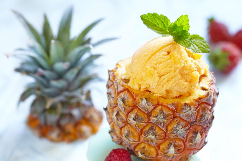 sorbetto di frutta piatto dietetico